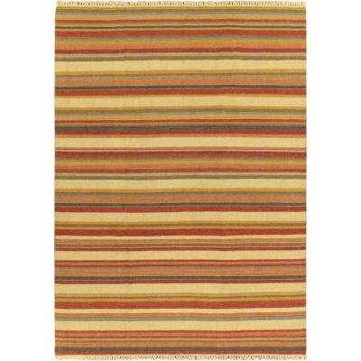 Kaleidoscope Cream Wool Kilim 6 ft. 7 in. x 9 ft. 2 in. Area Rug