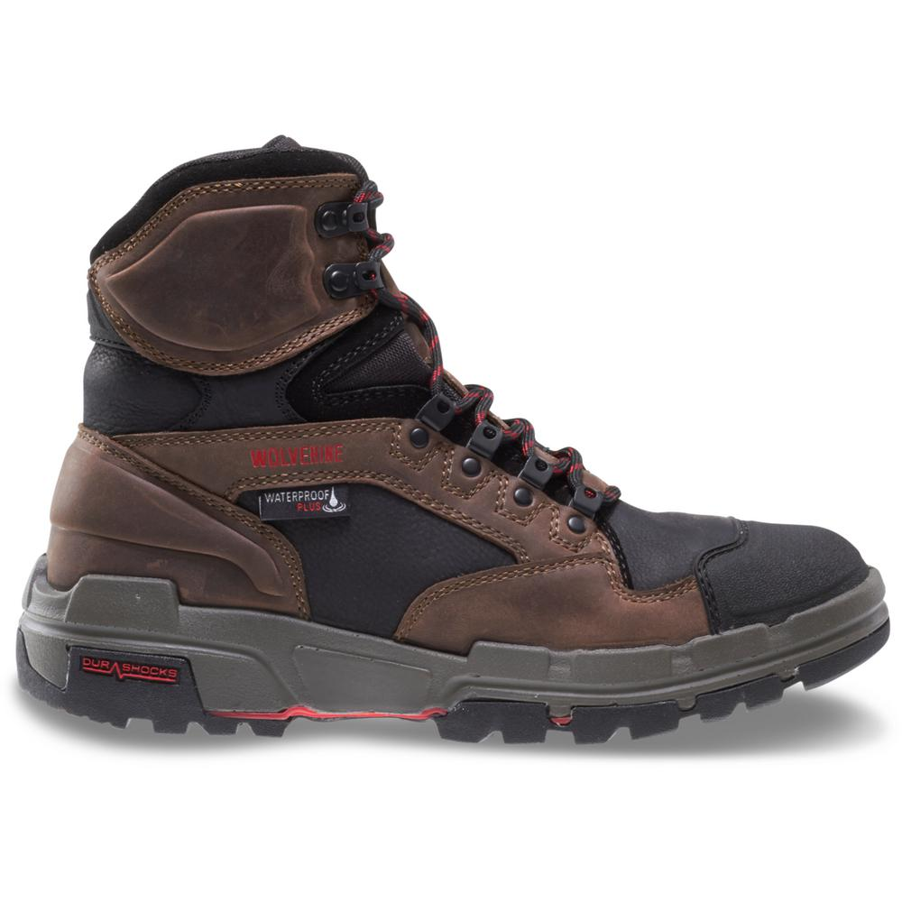 bf6c4cce000 Wolverine Men's Wolverine Legend Size 9.5M Brown Full-Grain Leather  Waterproof 6 in. Boot