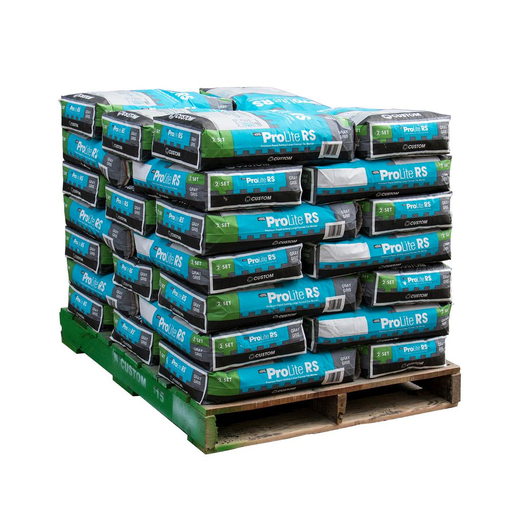 Custom Building Products ProLite 30 lb. Gray Rapid Setting Tile and Stone Mortar ( 35 bags/ 3,500 sq. ft./ pallet)