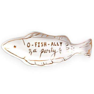 Azure O-Fish-Ally-A Party Fish Tray