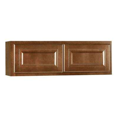 Hampton Assembled 30x12x12 in. Wall Bridge Kitchen Cabinet in Cognac