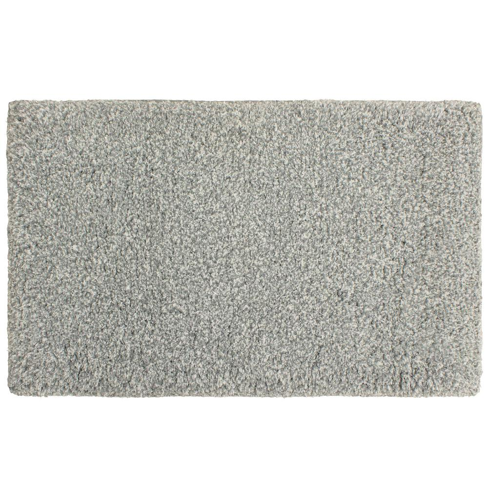 Plush Dusk Rug: Laura Ashley Rachel Lurex 20 In. X 34 In. Bath Rug, Dusk