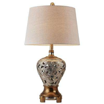 Langi 25 in. Silver/Brown Table Lamp