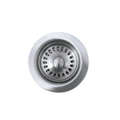 3-1/2 in. Decorative Basket Strainer in Stainless