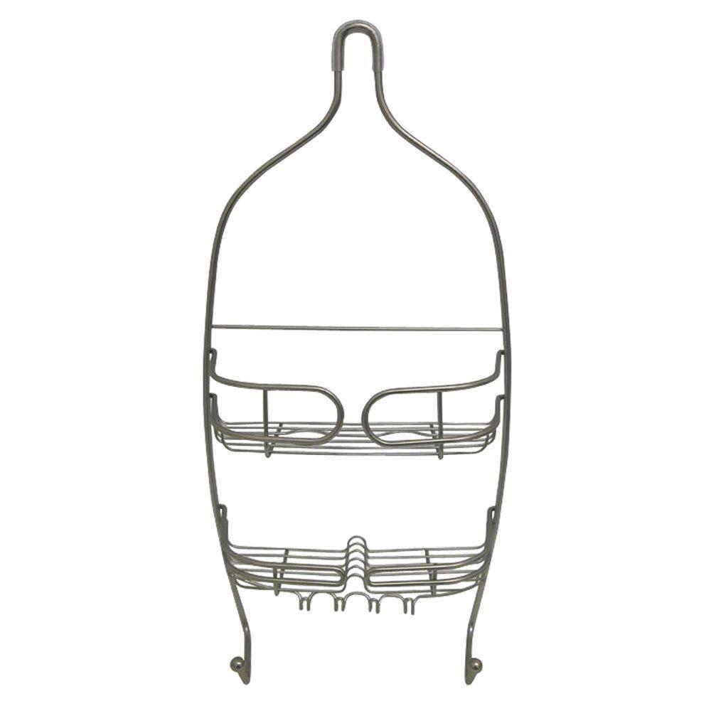 interDesign Neo Medium Shower Caddy in Satin Nickel