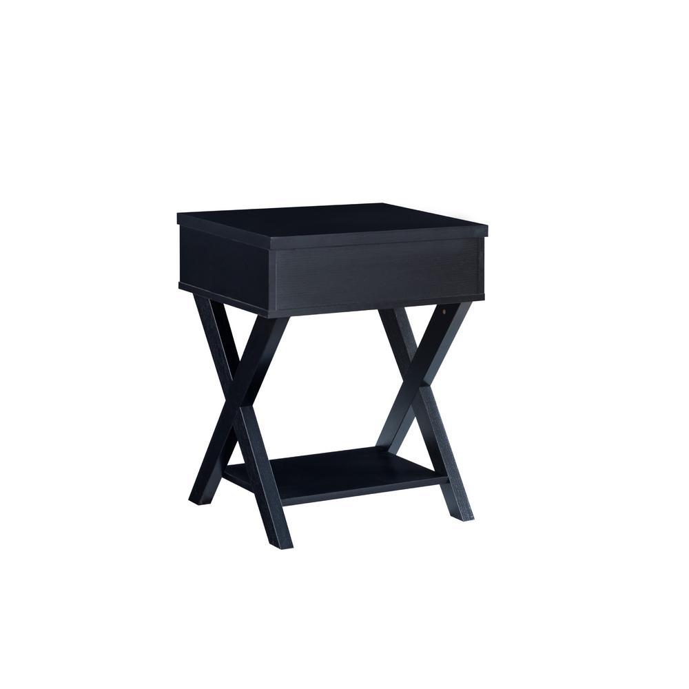 Fabienne Black Flip-Top End Table
