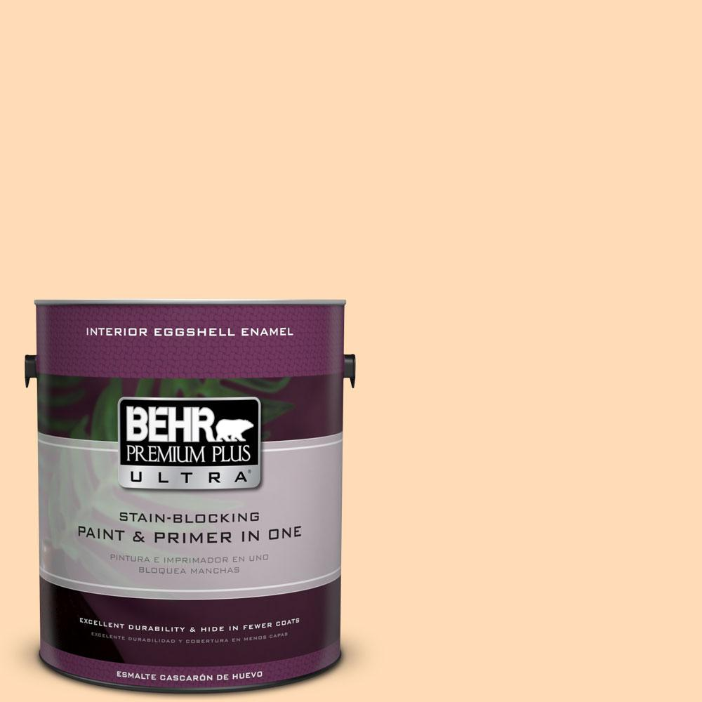 1 gal. #290B-4 Feather Plume Eggshell Enamel Interior Paint and Primer