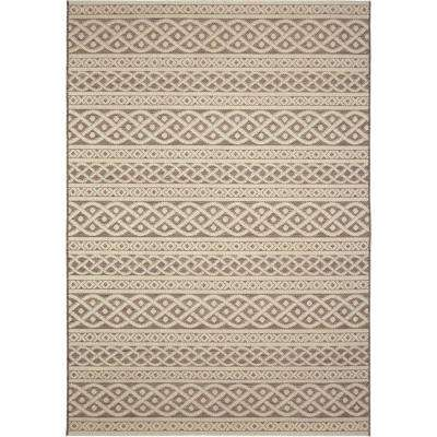 Tied Up Beige 5 ft. x 8 ft. Indoor/Outdoor Area Rug