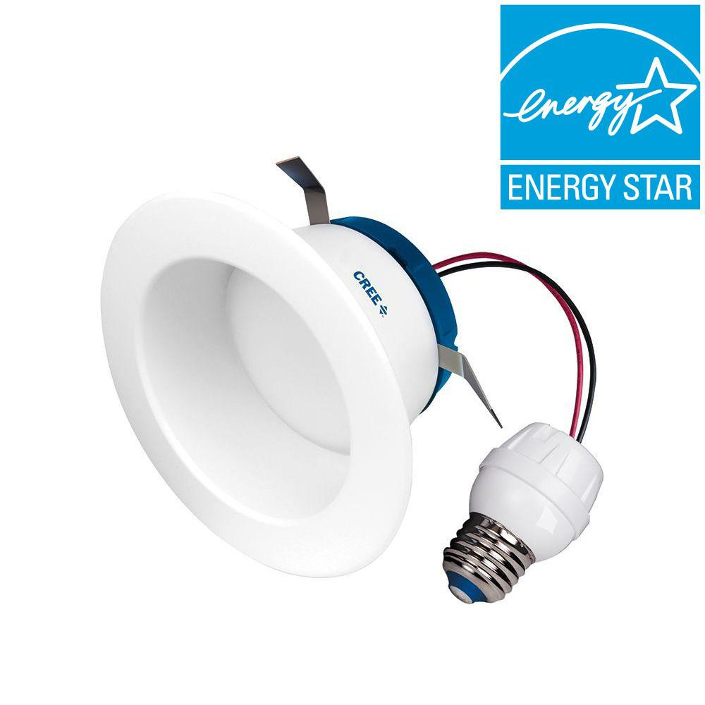 55W Equivalent Daylight (5000K) 4 in. Dimmable LED Retrofit Recessed Downlight