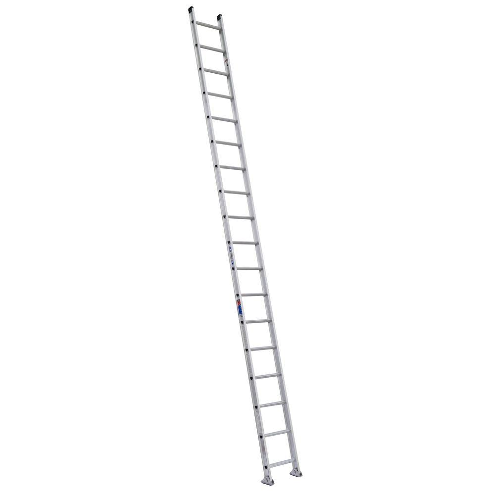 18 ft. Aluminum D-Rung Straight Ladder with 300 lb. Load Capacity