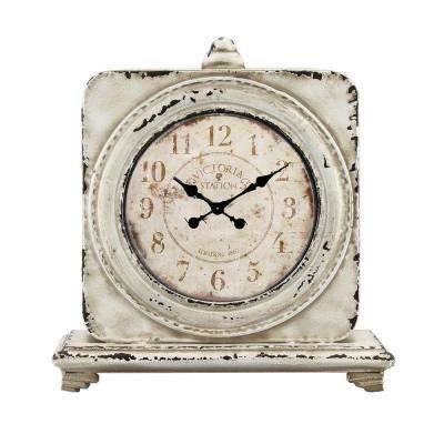 12.5 in x 4 in. Victoria Station Square Tabletop Clock