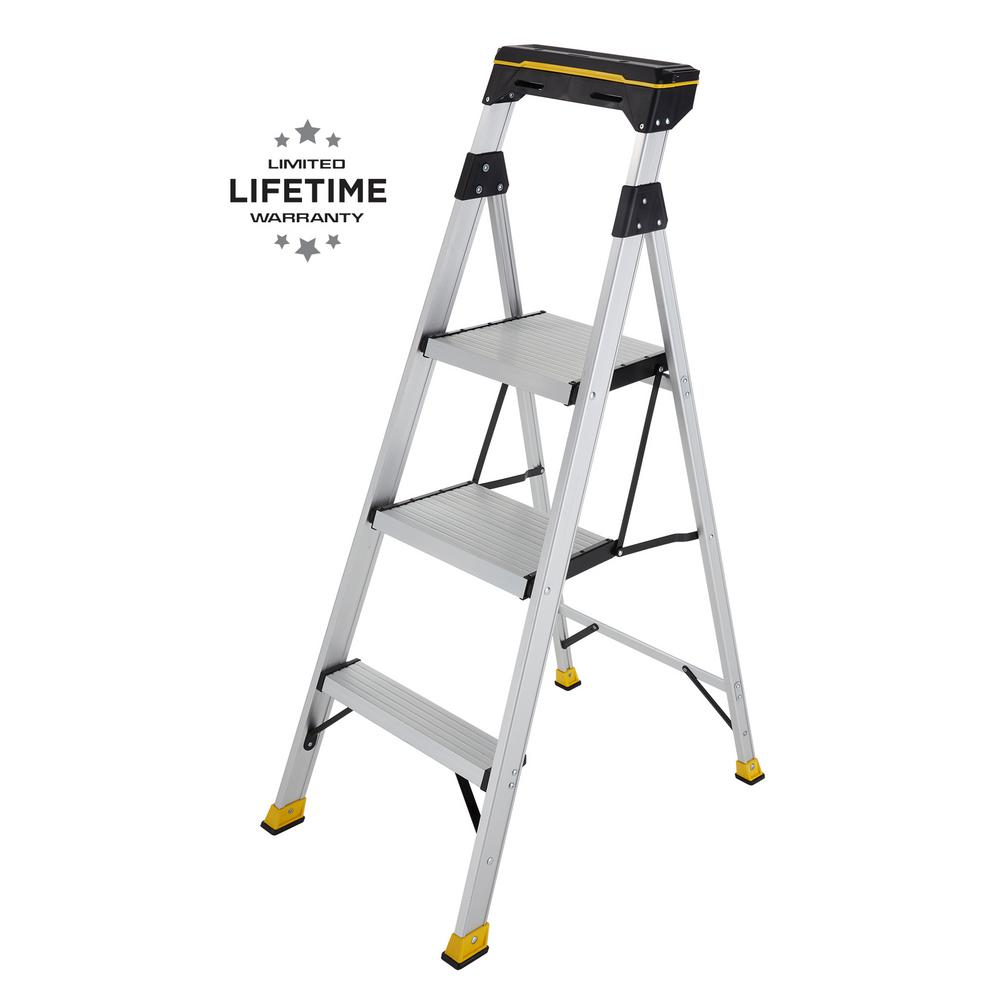 4 5 Ft Aluminum Hybrid Ladder With Tray With 250 Lbs Load Capacity Type I Duty Rating