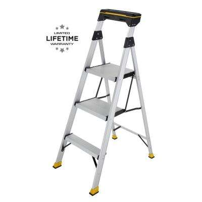 4.5 ft. Aluminum Hybrid Ladder with Tray with 250 lbs. Load Capacity Type I Duty Rating
