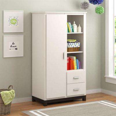 Leni White Stipple Armoire