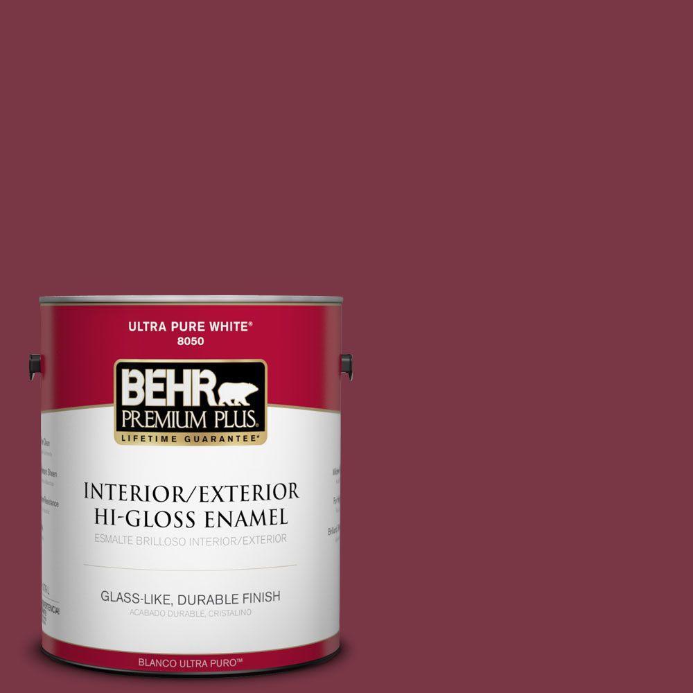BEHR Premium Plus 1-gal. #S-H-110 Wine Tasting Hi-Gloss Enamel Interior/Exterior Paint