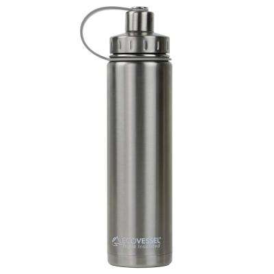 24 oz. Boulder Triple Insulated Bottle with Screw Cap - Silver Express (No Coat)