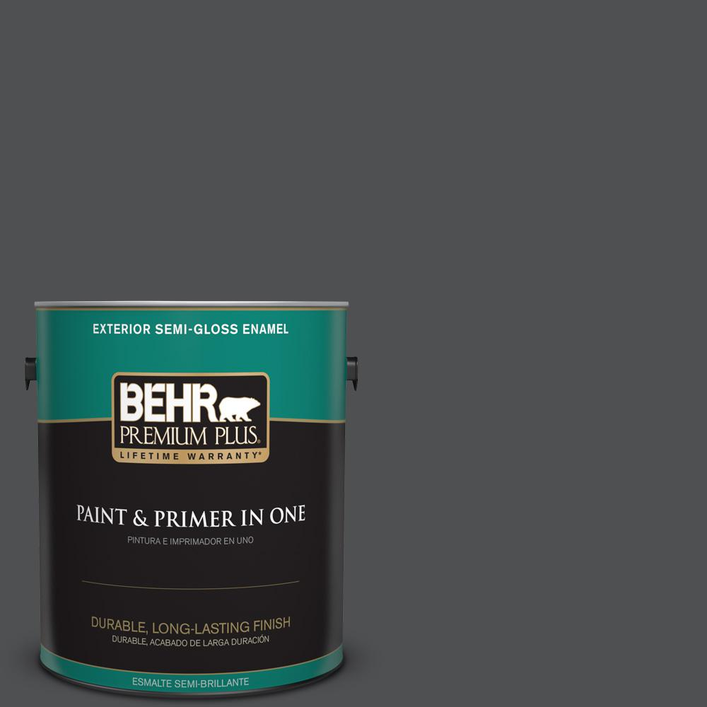1 gal. #PPU18-01 Cracked Pepper Semi-Gloss Enamel Exterior Paint