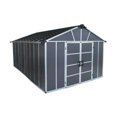 Yukon 11 ft. W x 15 ft. D x 8.3 ft. H Dark Gray Storage Shed