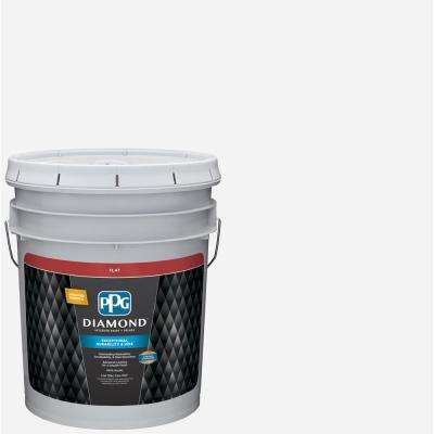 5 gal. Pure White Base 1 Flat Interior Paint with Primer