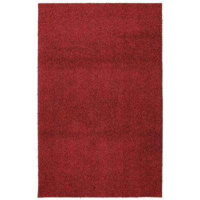 Modern Shag Crimson Tufted 8 ft. x 10 ft. Area Rug