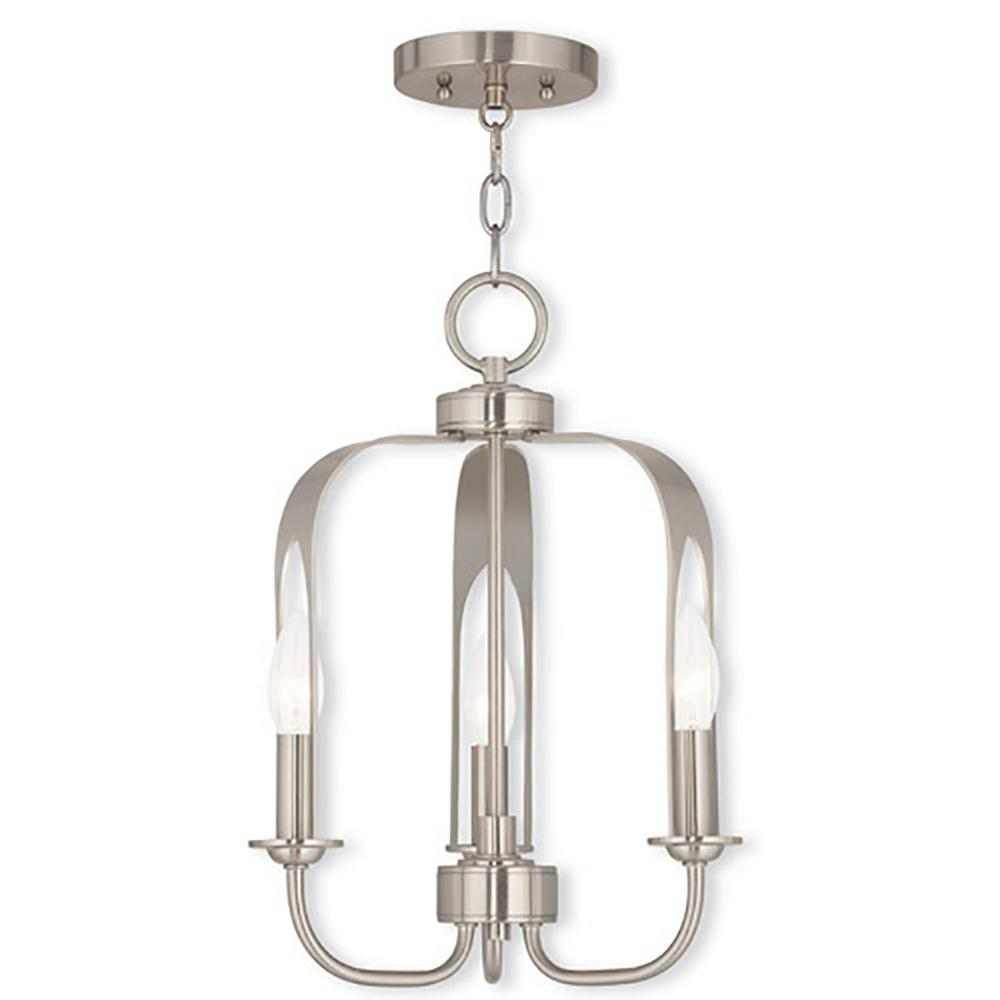 Livex Lighting Addison 3-Light Brushed Nickel Mini Chandelier