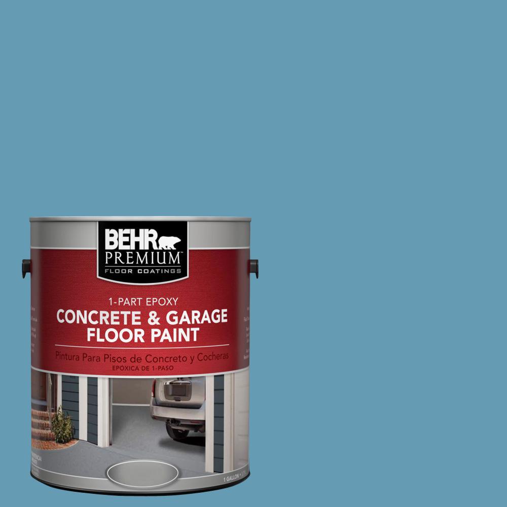 1 gal. #S490-4 Yacht Blue 1-Part Epoxy Concrete and Garage Floor Paint