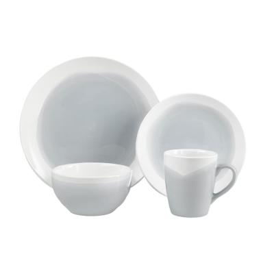 Oasis 16-Piece Blue and Gray Dinner Set