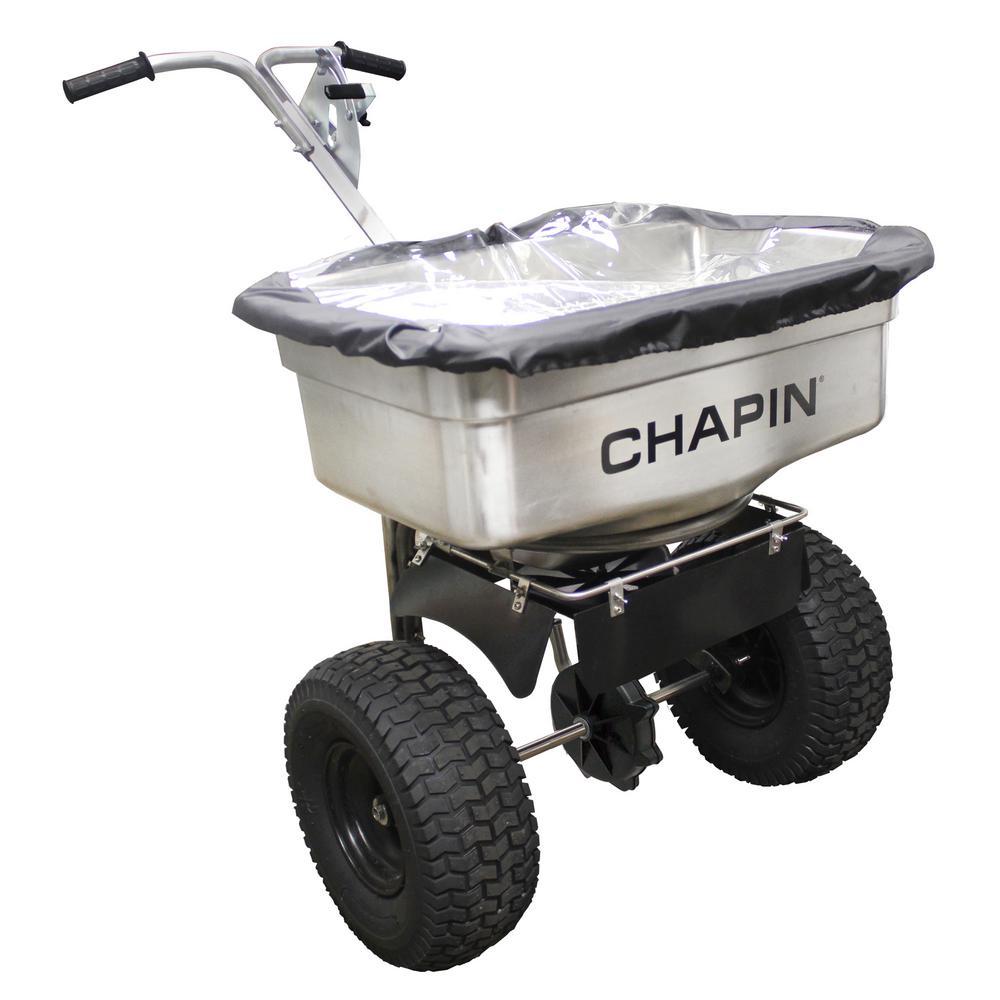 100 lbs. Capacity Stainless Steel Ice Melt and Salt Spreader