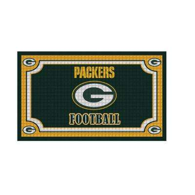 Green Bay Packers 18 in. x 30 in. Embossed Welcome Mat