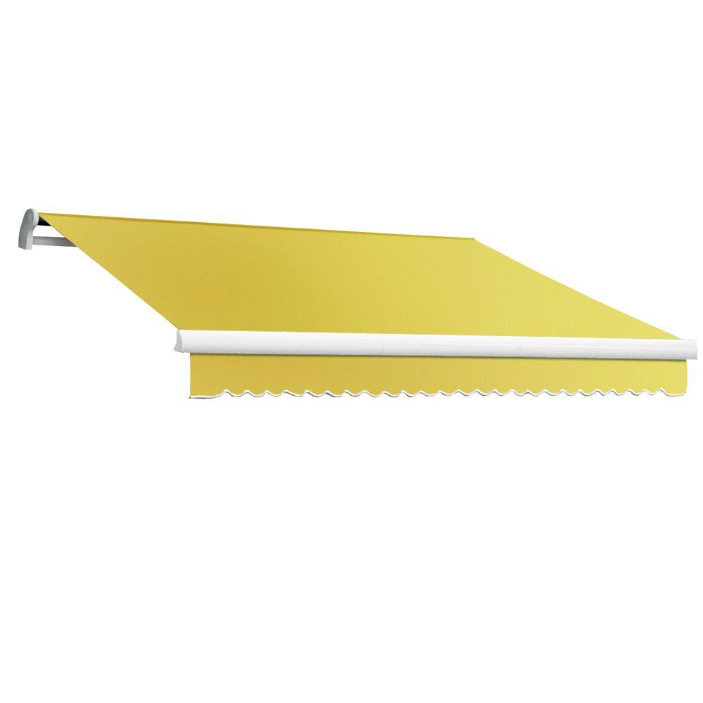 AWNTECH 16 ft. Maui-LX Right Motor Retractable Acrylic Awning with Remote (120 in. Projection) in Yellow