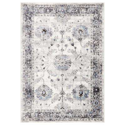 Nieva White 7 ft. 10 in. x 10 ft. 10 in. Transitional Area Rug