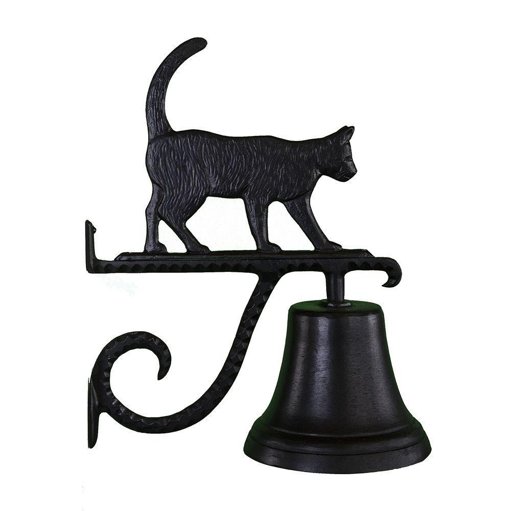 Montague Metal Products Cast Bell With Black Cat Ornament
