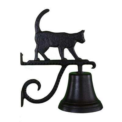Cast Bell with Black Cat Ornament