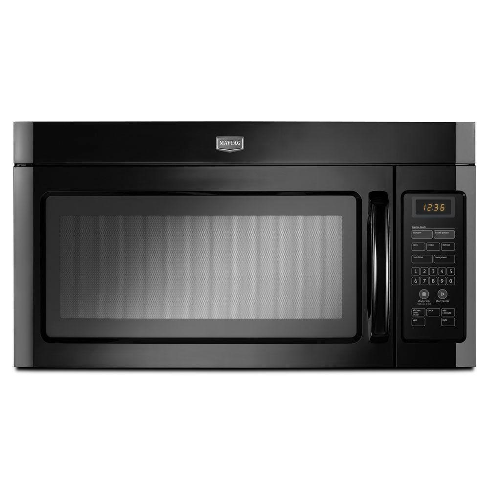 Maytag 1.6 cu. ft. Over the Range Microwave in Black-DISCONTINUED