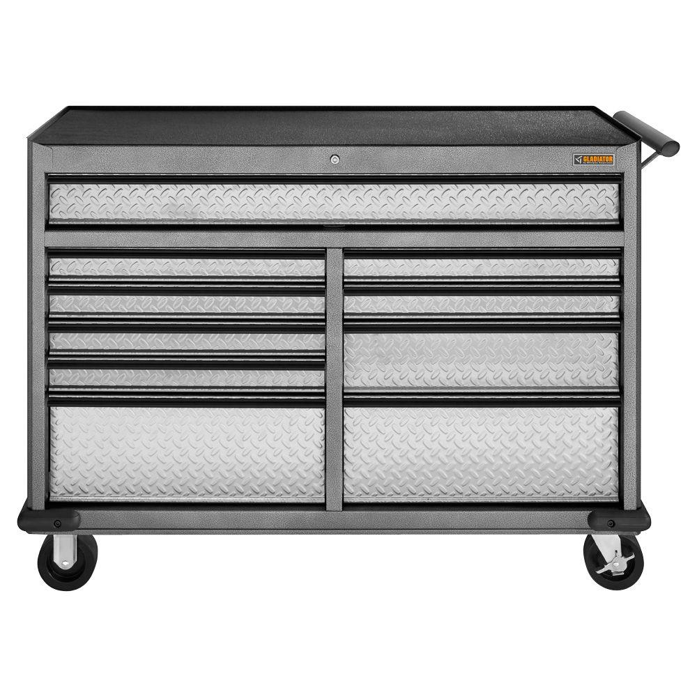 Gladiator Premier Series 52 in. W 10-Drawer Rolling Tool Chest