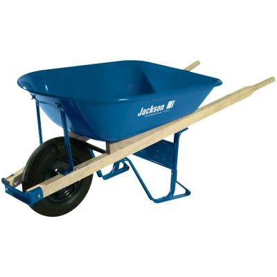 5 cu. ft. Heavy Gauge Seamless Steel Wheelbarrow