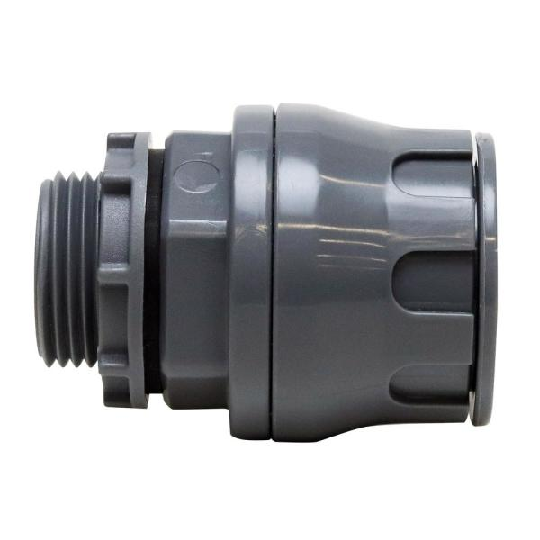 3/4 in. Non-Metallic Water Tight Push-to-Connect Straight Connector