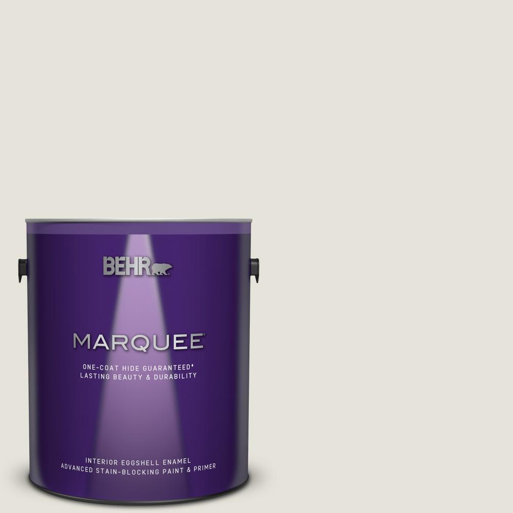 BEHRMARQUEE BEHR MARQUEE 1 gal. Ultra Pure White Eggshell Enamel Interior Paint and Primer in One