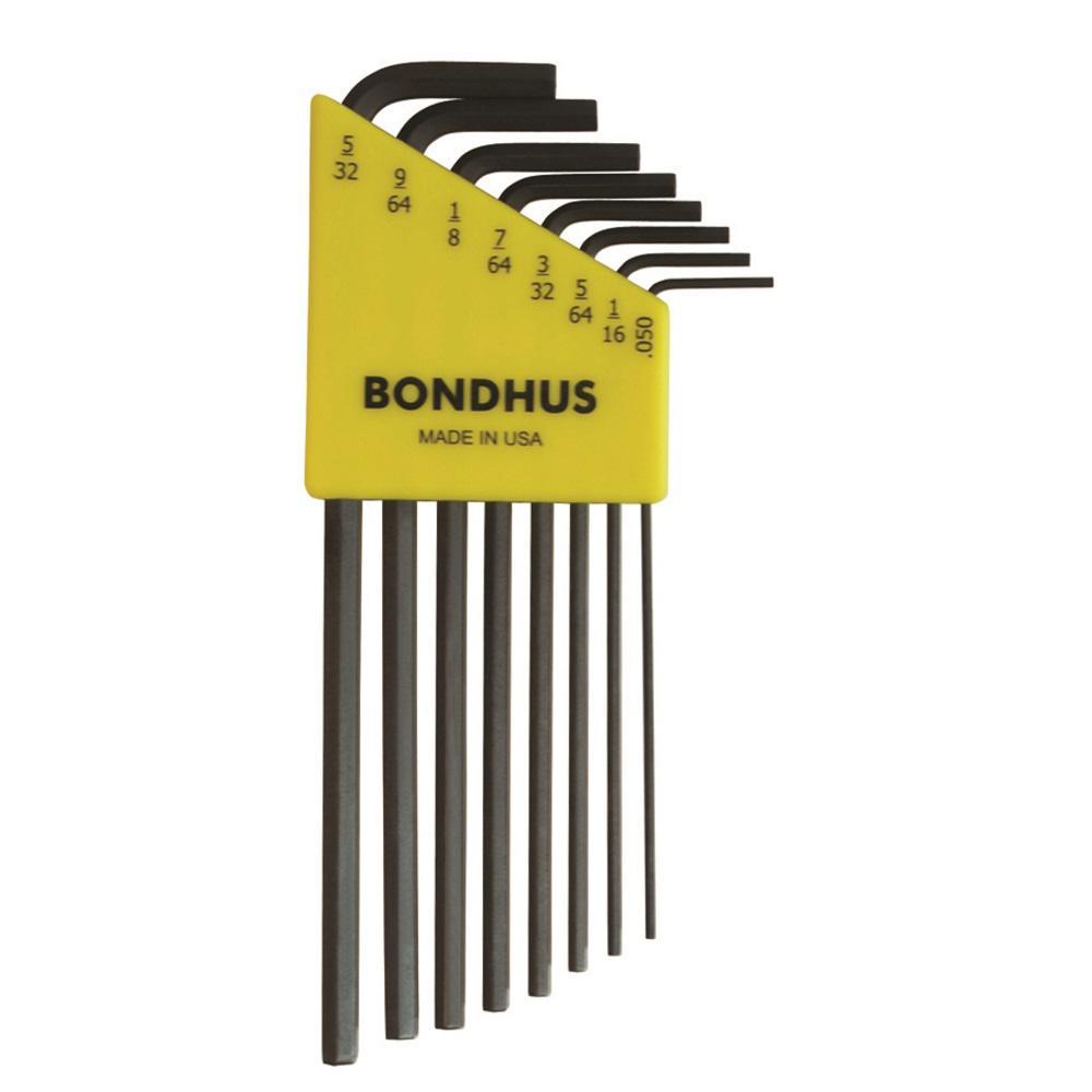 Bondhus Standard Hex End Long Arm L-Wrench Set with ProGuard Finish (8-Piece) by Bondhus