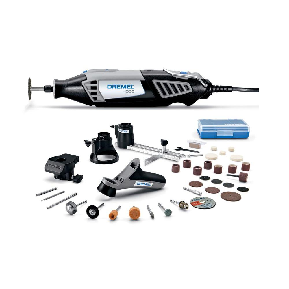 Dremel 4000 Series 1.6 Amp Variable Speed Corded Rotary Tool Kit with 34 Accessories, 4 Attachments and Carrying Case