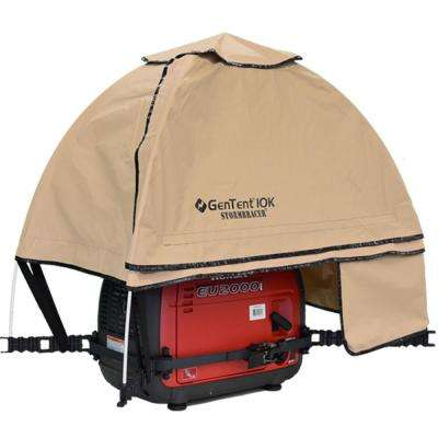 GenTent 10K Generator Tent Running Cover – XKI (Standard, Tan Light) for 1K-9K Watt invertor Generators