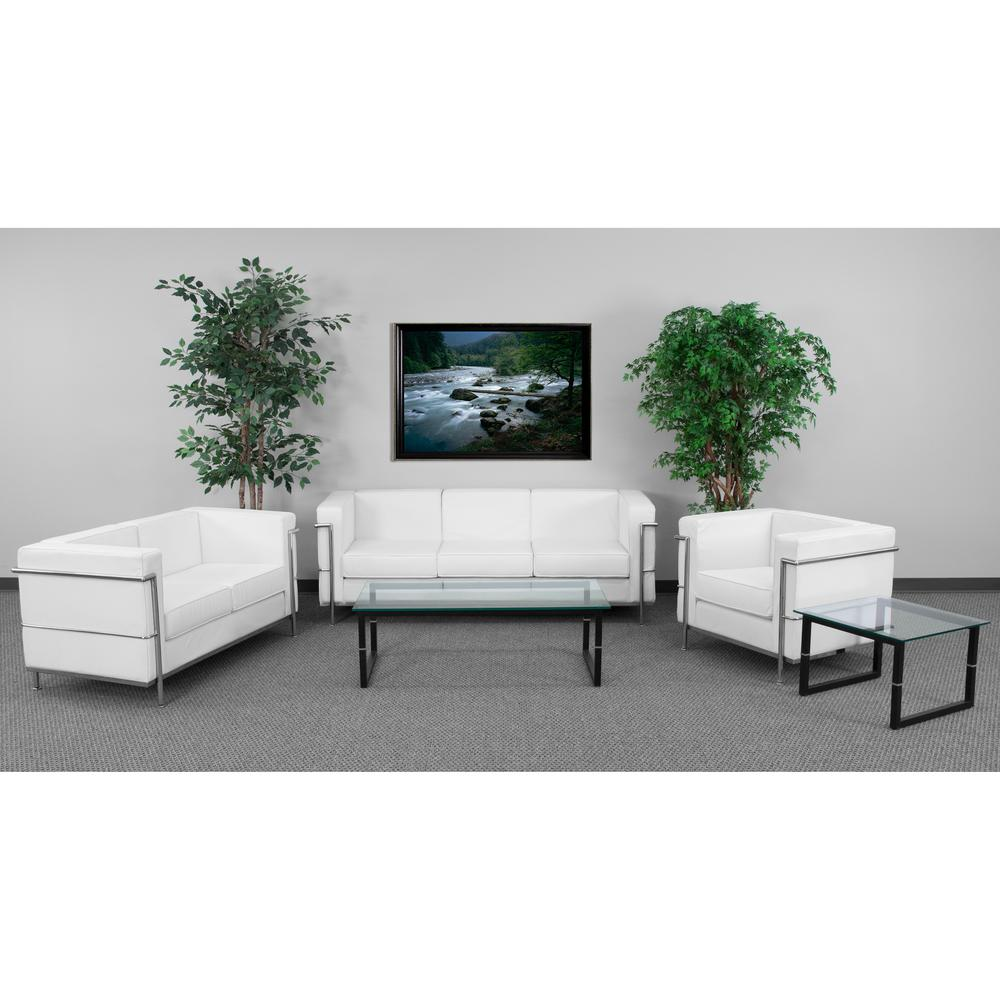 Flash Furniture Hercules Regal Series Reception Set in White ...