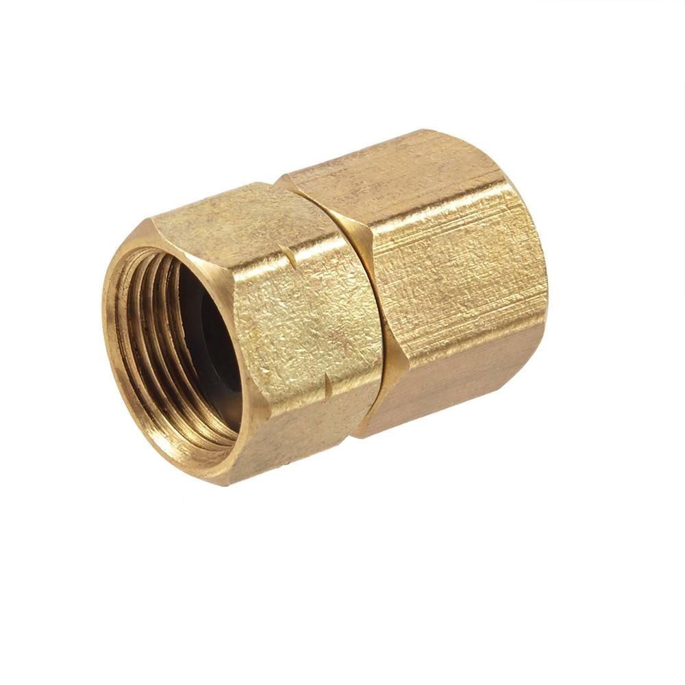 "Brass Coupling 0,5 inch x 1 inch Female Lead Free Brass Pipe Fitting Reducing Coupling 1//2 Female x 1/"" Female"