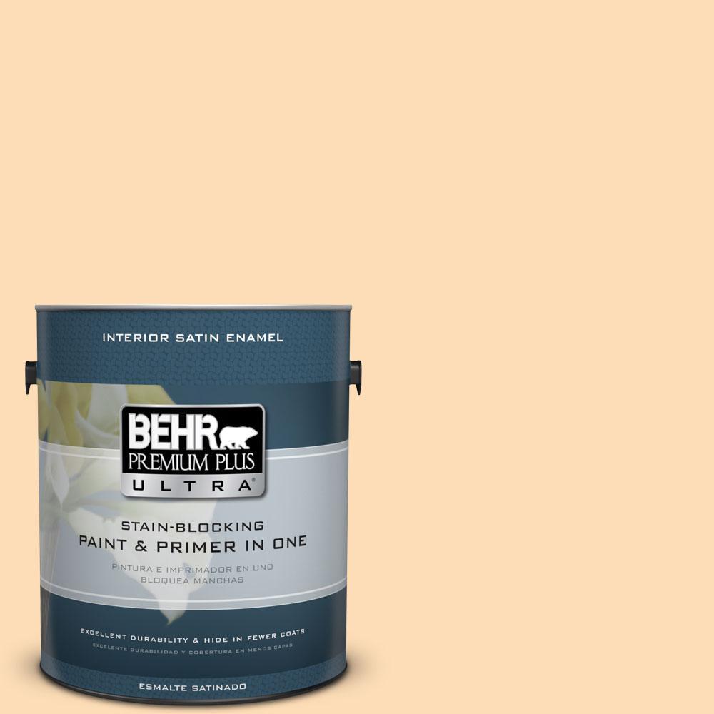 BEHR Premium Plus Ultra 1-gal. #P220-2 Peche Satin Enamel Interior Paint