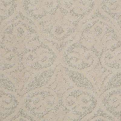 Carpet Sample - Perfectly Posh - In Color Almond Bark 8 in. x 8 in.