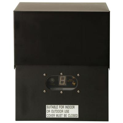 Power Pack Low-Voltage 600-Watt Black Outdoor Lighting Transformer with Photocell Light-Sensor and Metal Raintight Case