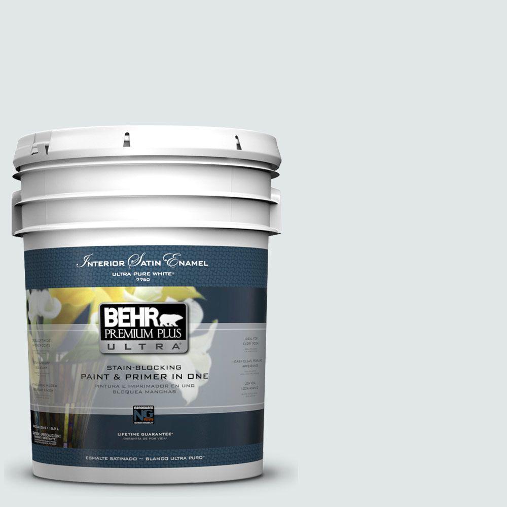 BEHR Premium Plus Ultra 5-gal. #490E-1 Glimmer Satin Enamel Interior Paint