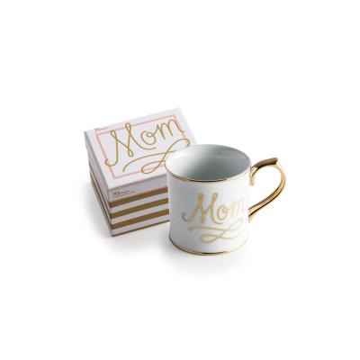 Oh Baby 12 oz. White and Gold Mom Coffee Mug