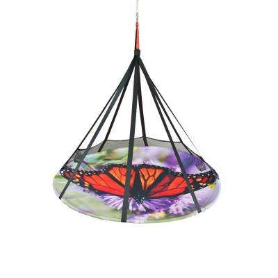 7 ft. Dia x 6 ft. Portable Blooming Lounge Hammock Bed in Butterfly Multi-Color