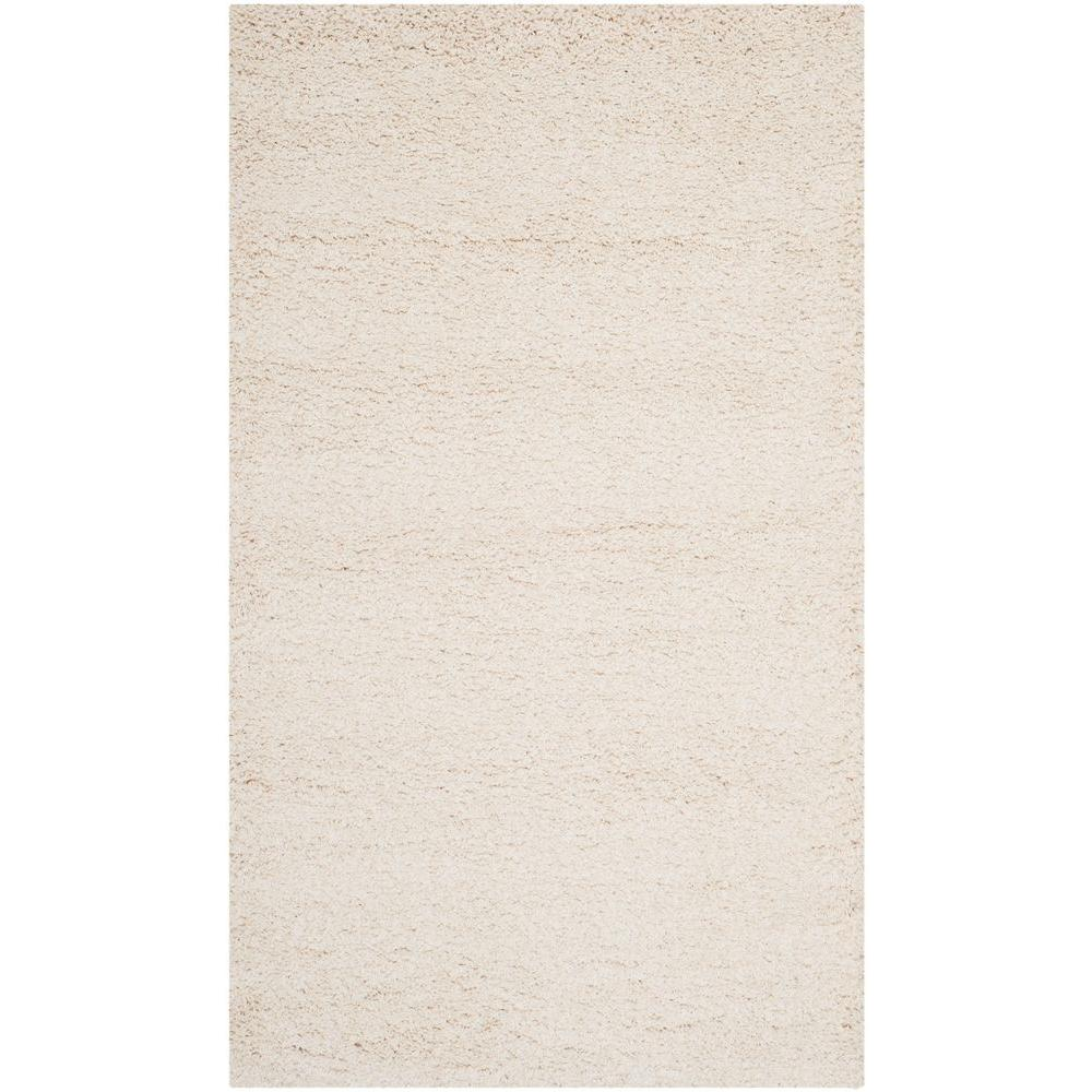 Safavieh Milan Shag Ivory 5 ft. 1 in. x 8 ft. Area Rug
